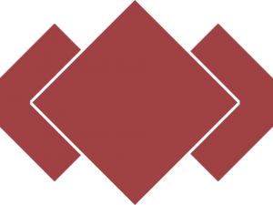 red diamond background