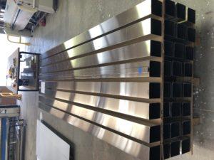Metal beams layed together