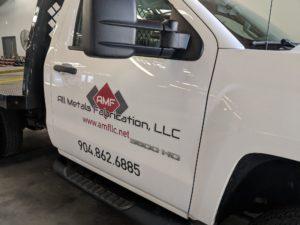AMF logo on side on truck