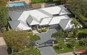 Metal Roof on large house in Miami