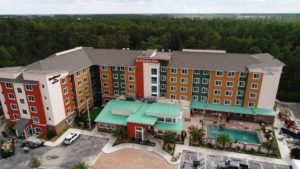 Residence Inn hotel shot from above