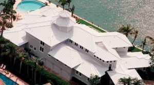 light color standing seam on metal roof