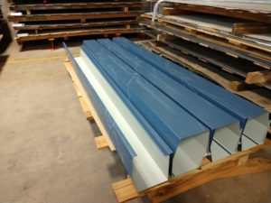 Blue roofing material